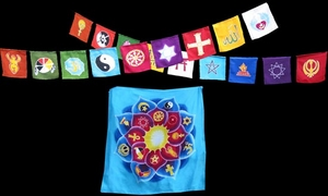Special - World Religion Flags and Lotus Banner