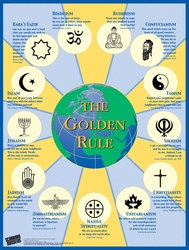 Large Golden Rule Poster