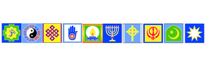 East West Harmony Interfaith Flag String