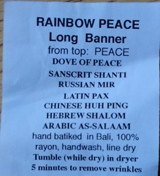 Rainbow Peace Long Banner