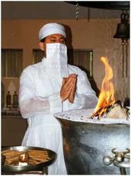 Zoroastrian fire ceremony