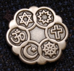 Interfaith Lapel Pin (Antique Silver Finish)