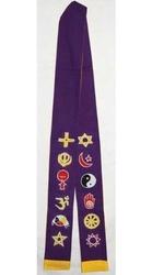 Interfaith Stole (Purple/Gold)