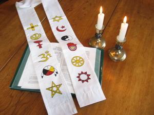 Interfaith Stole -White